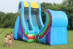Ginormous Water Slide is Ready, YaY!
