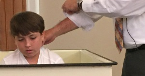 Tyler now understand the meaning of Baptism and his sharing it with us.